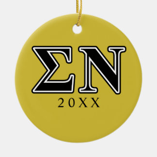 Sigma Nu Black Christmas Ornament