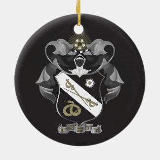 Sigma Nu Crest Round Ceramic Decoration