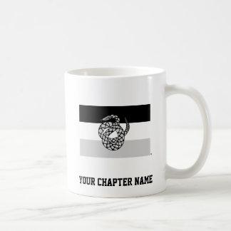 Sigma Nu Flag Gray Coffee Mug