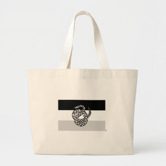 Sigma Nu Flag Gray Large Tote Bag