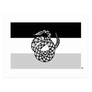 Sigma Nu Flag Gray Postcard