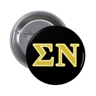 Sigma Nu Gold Letters 6 Cm Round Badge