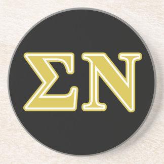 Sigma Nu Gold Letters Coaster