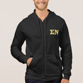 Sigma Nu Gold Letters Hoodie