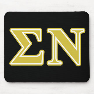 Sigma Nu Gold Letters Mouse Mat