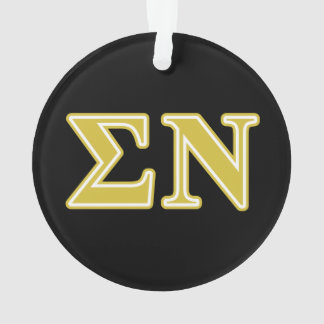 Sigma Nu Gold Letters Ornament