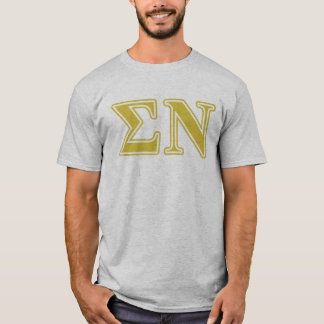 Sigma Nu Gold Letters T-Shirt