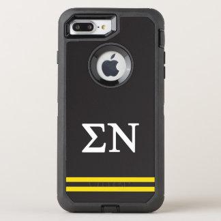 Sigma Nu | Sport Stripe OtterBox Defender iPhone 8 Plus/7 Plus Case