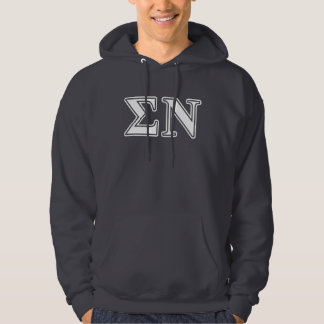 Sigma Nu White and Gold Letters Hoodie