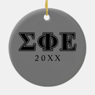 Sigma Phi Epsilon Black Letters Christmas Ornament