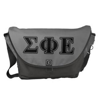 Sigma Phi Epsilon Black Letters Messenger Bag