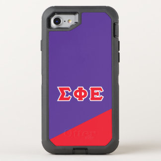 Sigma Phi Epsilon | Greek Letters OtterBox Defender iPhone 8/7 Case