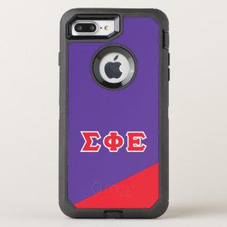 Sigma Phi Epsilon | Greek Letters OtterBox Defender iPhone 8 Plus/7 Plus Case
