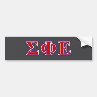 Sigma Phi Epsilon Purple and Red Letters Bumper Sticker