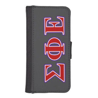 Sigma Phi Epsilon Purple and Red Letters iPhone SE/5/5s Wallet Case