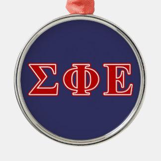 Sigma Phi Epsilon Red Letters Christmas Ornament