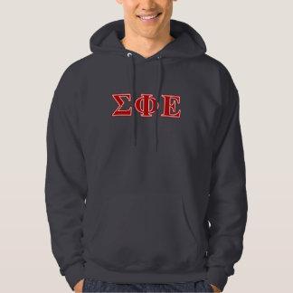 Sigma Phi Epsilon Red Letters Hoodie