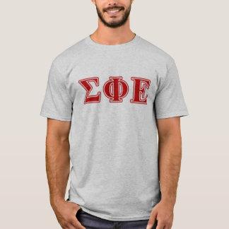Sigma Phi Epsilon Red Letters T-Shirt