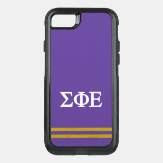 Sigma Phi Epsilon | Sport Stripe OtterBox Commuter iPhone 8/7 Case