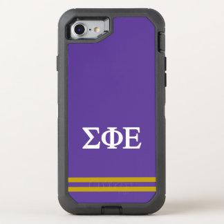 Sigma Phi Epsilon | Sport Stripe OtterBox Defender iPhone 8/7 Case