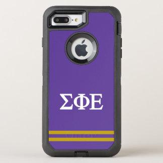 Sigma Phi Epsilon | Sport Stripe OtterBox Defender iPhone 8 Plus/7 Plus Case