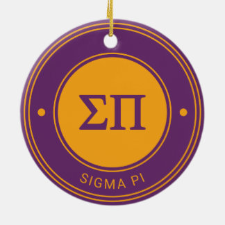 Sigma Pi | Badge Christmas Ornament