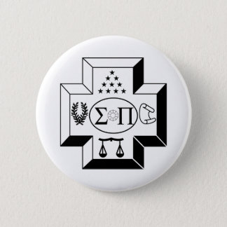 Sigma Pi Cross B+W 6 Cm Round Badge