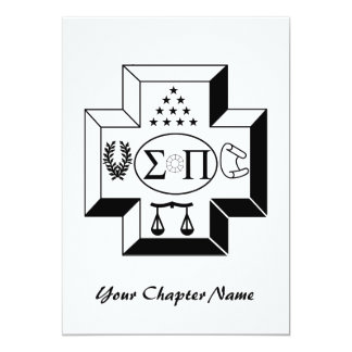 Sigma Pi Cross B+W Card