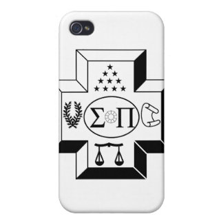 Sigma Pi Cross B+W Cover For iPhone 4