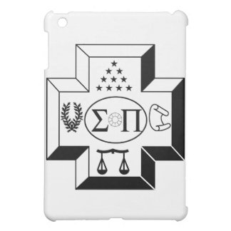 Sigma Pi Cross B+W iPad Mini Cases