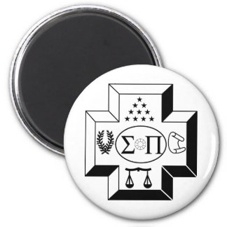 Sigma Pi Cross B+W Magnet