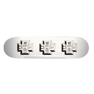 Sigma Pi Cross B+W Skateboard Decks