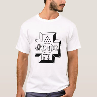 Sigma Pi Cross B+W T-Shirt