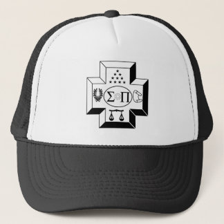 Sigma Pi Cross B+W Trucker Hat