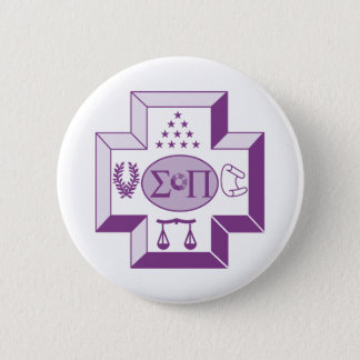 Sigma Pi Cross Color 6 Cm Round Badge