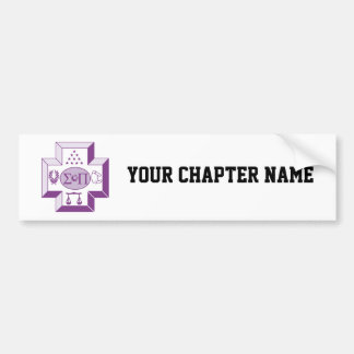 Sigma Pi Cross Color Bumper Sticker