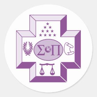 Sigma Pi Cross Color Classic Round Sticker