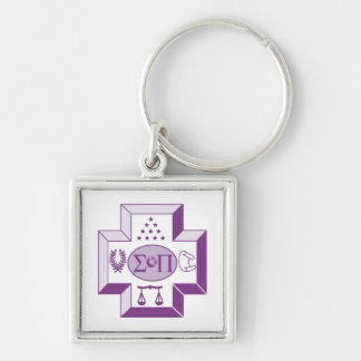 Sigma Pi Cross Color Key Ring