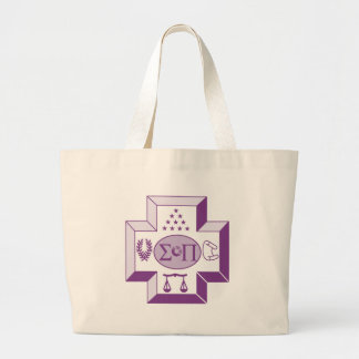 Sigma Pi Cross Color Large Tote Bag