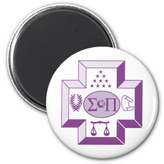 Sigma Pi Cross Color Magnet