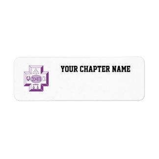 Sigma Pi Cross Color Return Address Label