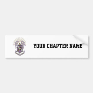 Sigma Pi Good Crest 4-C Bumper Sticker
