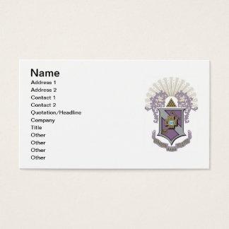Sigma Pi Good Crest 4-C Business Card
