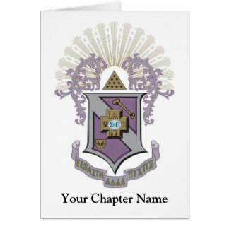 Sigma Pi Good Crest 4-C Card