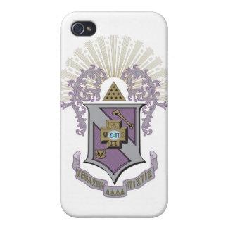 Sigma Pi Good Crest 4-C iPhone 4/4S Case
