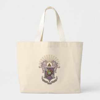 Sigma Pi Good Crest 4-C Large Tote Bag