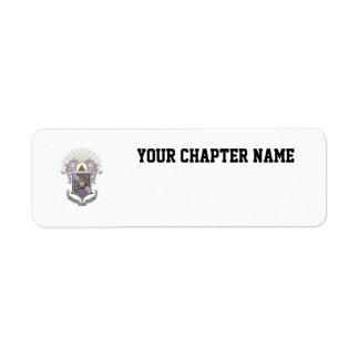Sigma Pi Good Crest 4-C Return Address Label