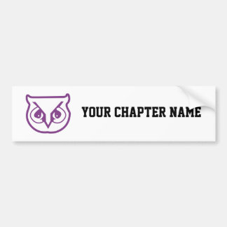 Sigma Pi Owl Color Bumper Sticker