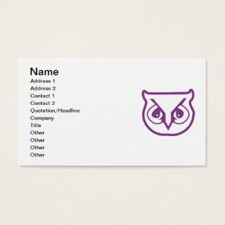 Sigma Pi Owl Color Business Card