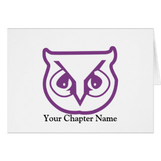 Sigma Pi Owl Color Card